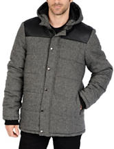 Excelled Channel Quilted Hoodie Jacket