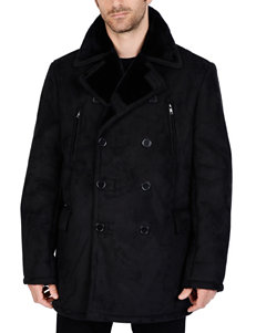 Excelled Black Peacoats & Overcoats