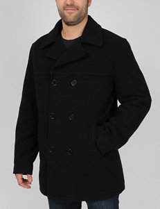 Excelled Faux Wool Pea Coat