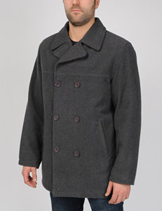 Excelled Big Faux Wool Pea Coat