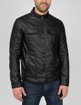 Excelled Faux Leather Hipster Jacket