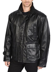 Excelled Leather Patch Coat