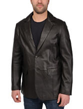 Excelled Lamb Leather Button Blazer – Big