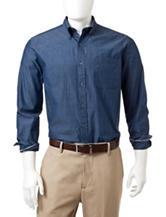 Tricot St. Raphael Blue Chambray Woven Shirt