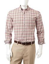 Tricot St. Raphael Carbon Peach Check Poplin Shirt
