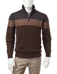 Tricot St. Raphael 1/4 Zip Color Block Sweater