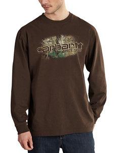 Carhartt® Brown Logo Knit T-shirt