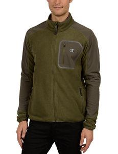 Champion Green Camo Fleece & Soft Shell Jackets