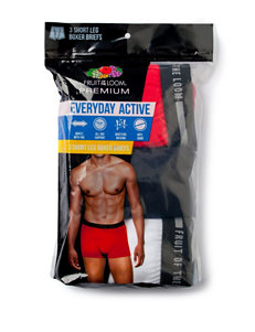 Fruit of the Loom Black / Red / White Boxer Briefs