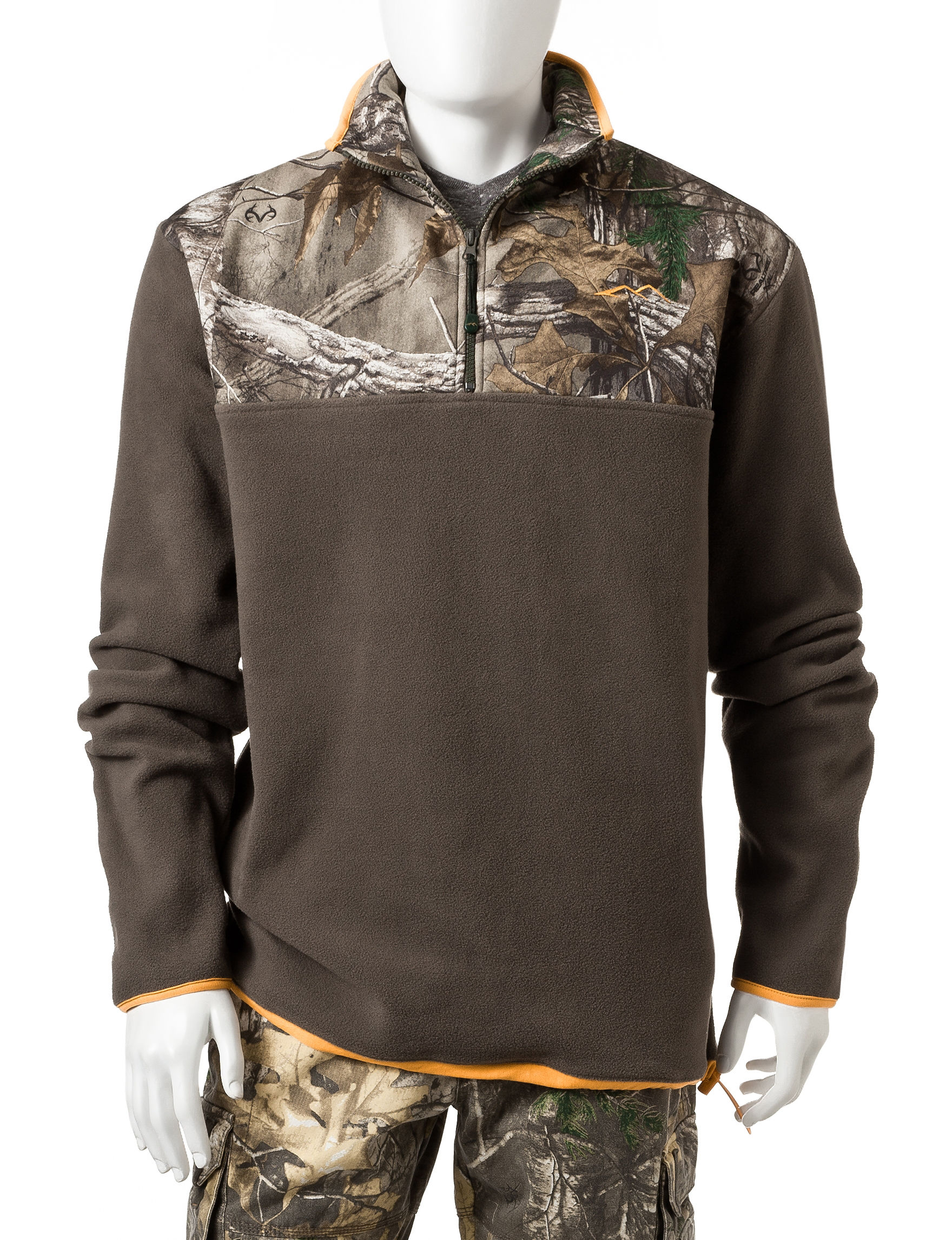 Earthletics realtree xtra micro fleece camouflage pullover for Realtree camo flannel shirt