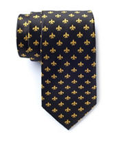 American Lifestyles™ Black Fleur De Lis Tie