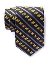 American Lifestyles™ Fleur De Lis Striped Tie
