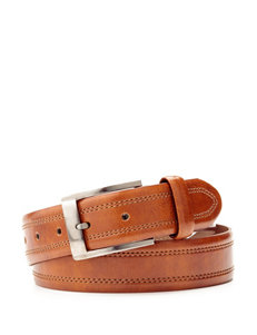 Izod Solid Color Double Stitch Belt