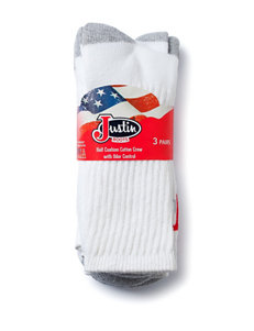 Justin Boots White Socks