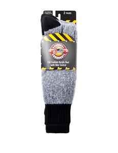 Justin® 2-pk. Black Boot Socks