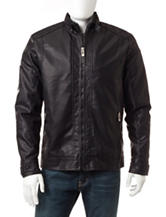Whispering Smith Black Faux Leather Bomber Jacket