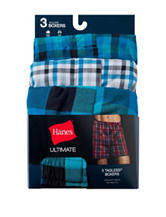 Hanes® 3-pk. Blue Ultimate Tagless Boxers