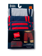 Hanes® 3-pk. Navy & Red Ultimate Tagless Boxer Briefs