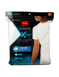 Hanes® 3-pk. White Ultimate Crew X-Temp™ T-shirts