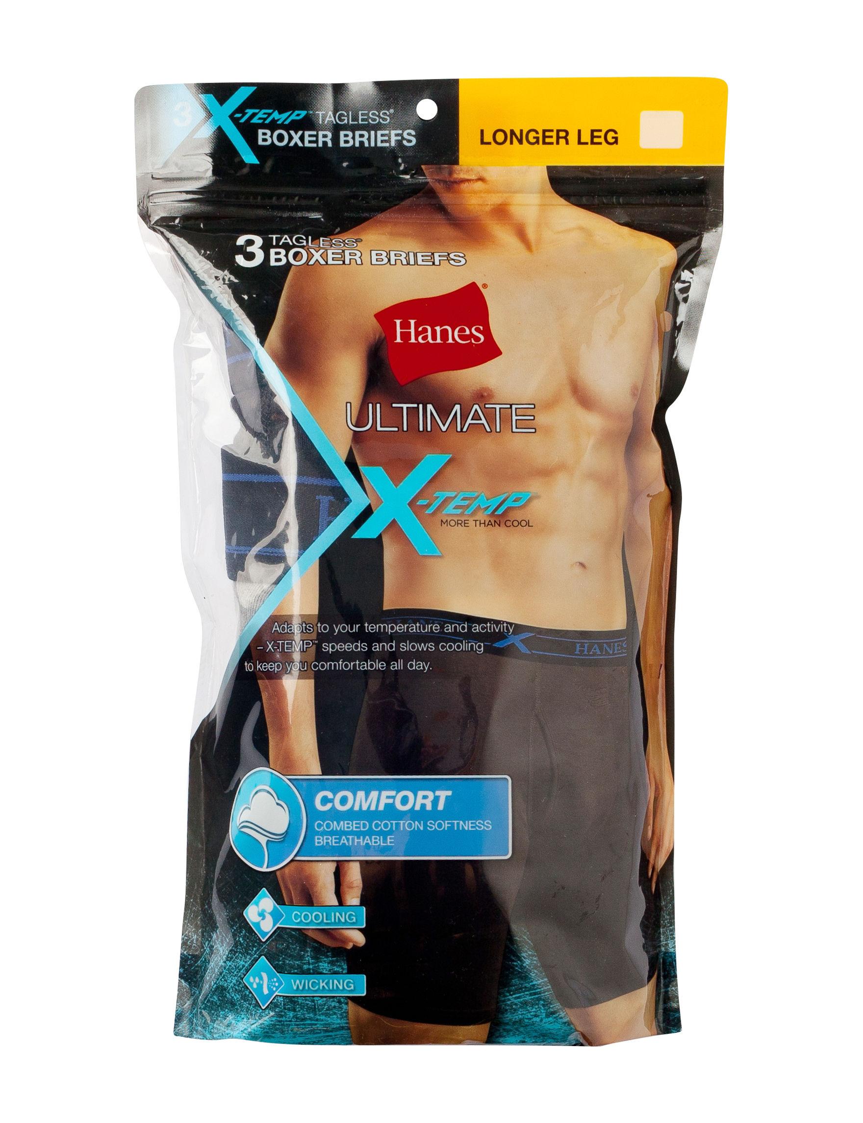 Hanes Blue / Grey Boxer Briefs