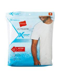 Hanes® 3-pk. White Ultimate X-Temp™ T-shirts