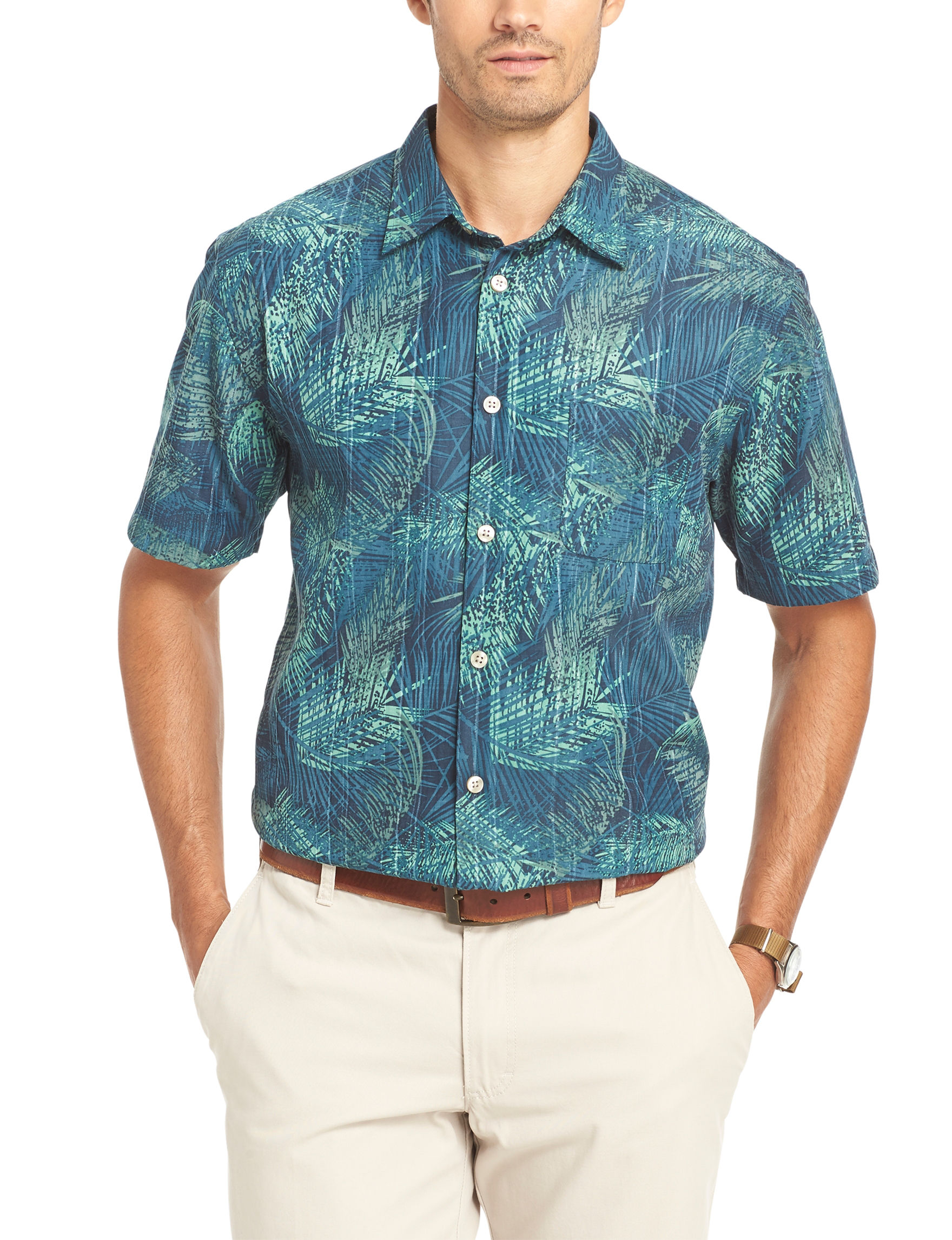 Van Heusen Tropical Print Woven Shirt Stage Stores