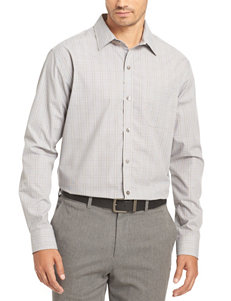 Van Heusen Grey Gargoyle Casual Button Down Shirts