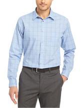 Van Heusen Windowpane No-Iron Stretch Woven Shirt