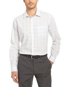 Van Heusen Chambray Casual Button Down Shirts