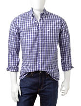 Dockers® Catalina Blue &Yellow Woven Sport Shirt