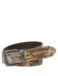 Realtree Men's Camo Print & Brown Reversible Belt