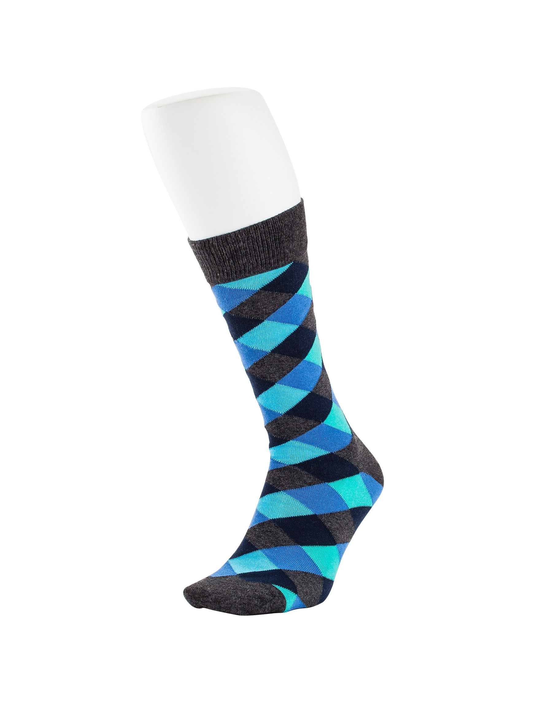 HS by Happy Socks Grey / Blue Socks