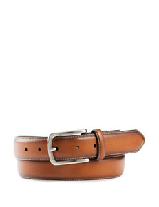 Ivy Crew Tan Feather Stitch Casual Belt