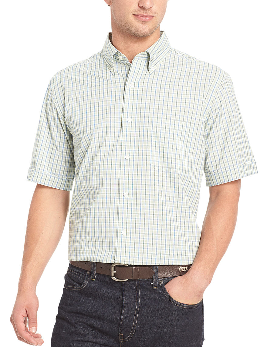 Arrow Smoke Green Casual Button Down Shirts