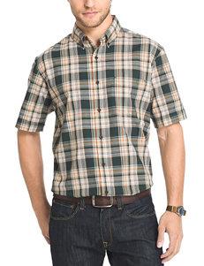 Arrow Dark Green Casual Button Down Shirts