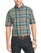 Arrow Men's Big & Tall Sagebrush Green Madras Sport Shirt