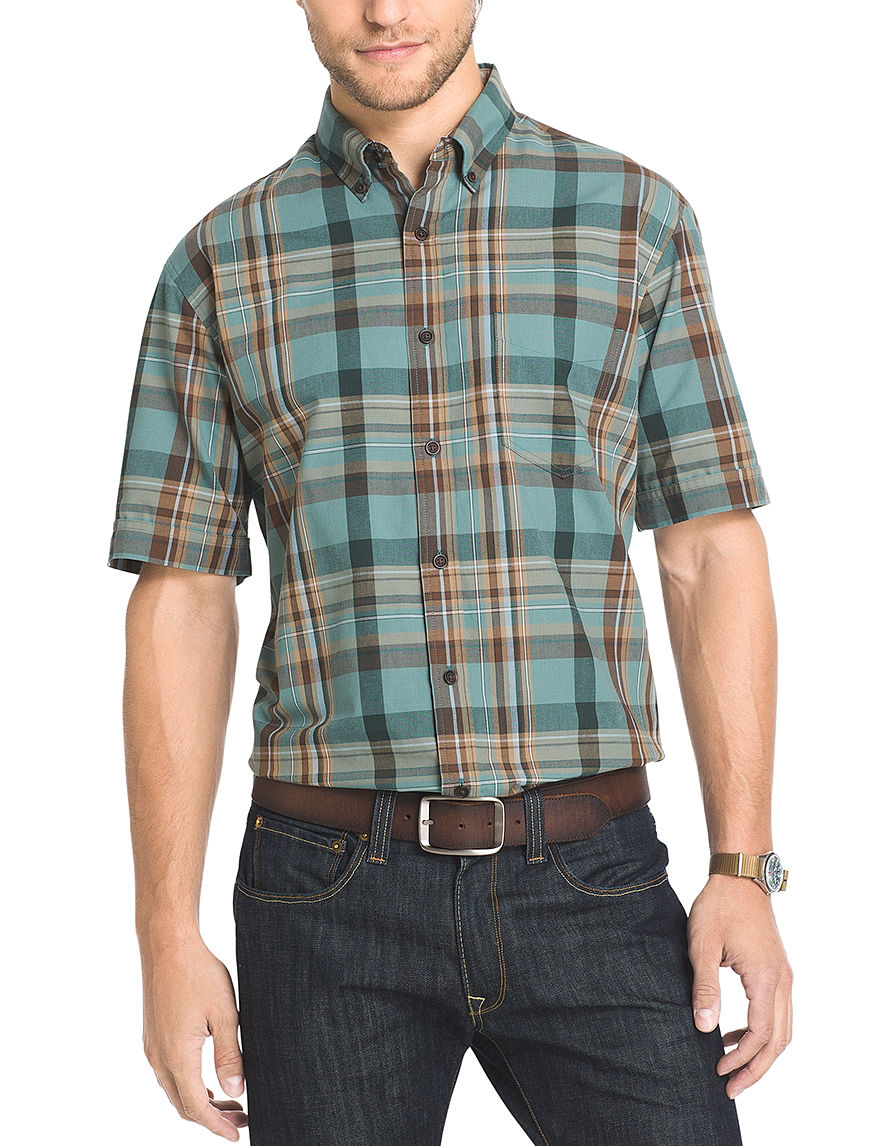 Arrow Sage Brush Green Casual Button Down Shirts