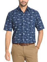Arrow Men's Big & Tall Sea Jack Blueprint Sport Shirt
