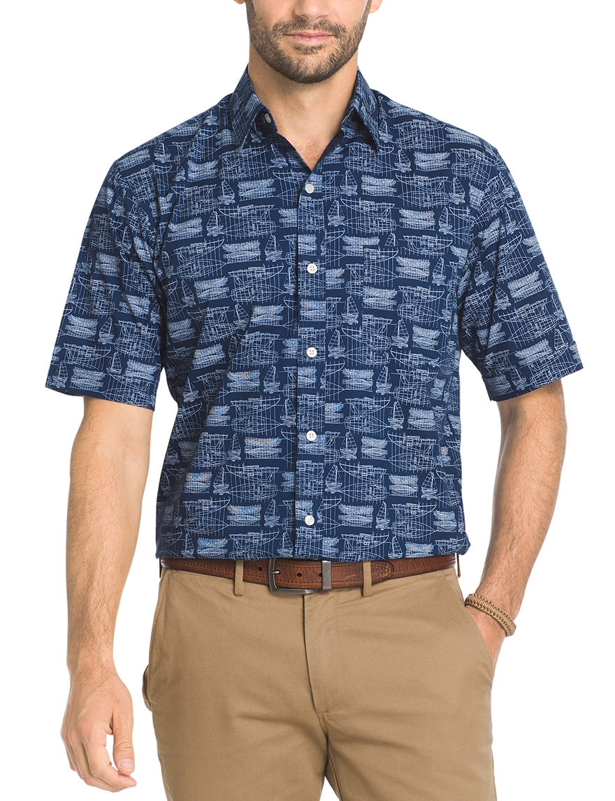 Arrow Club Blue Casual Button Down Shirts