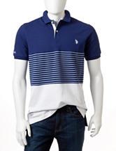 U.S. Polo Assn. Striped Color Block Polo Shirt