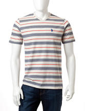 U.S. Polo Assn. Multicolored Striped V-Neck Shirt