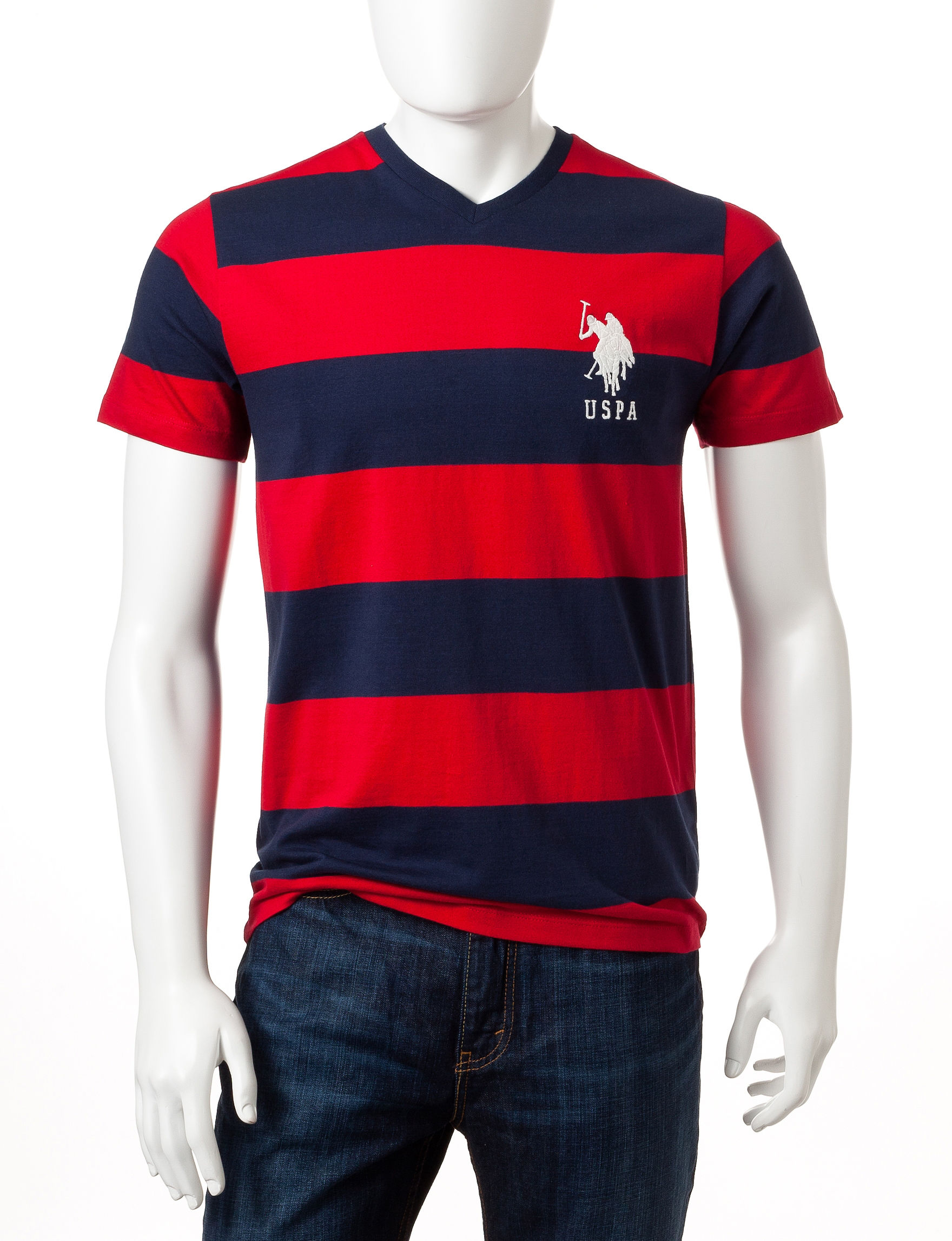 U.S. Polo Assn. Red Tees & Tanks