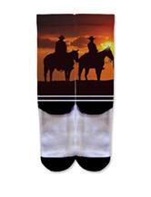 Icon Horse Sunset Fashion Crew Socks