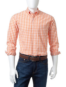 Dockers Mirador Orange Casual Button Down Shirts