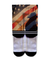 Icon American Flag Cowboy Fashion Crew Socks