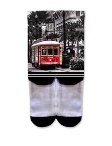 Icon Trolley Car Fashion Crew Socks