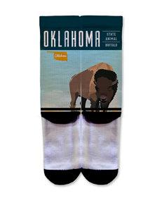 Icon Oklahoma Buffalo Fashion Crew Socks
