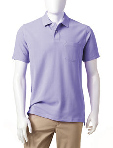 Sun River Solid Color Pocket Polo Shirt