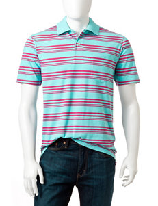 Sun River Multicolor Striped Print Polo Shirt