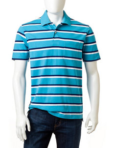 Sun River Jersey Striped Polo Shirt